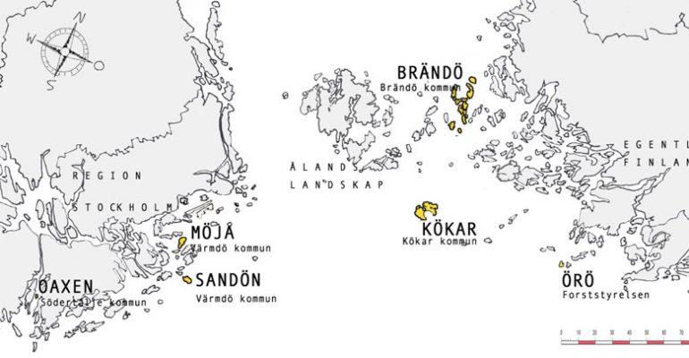 De sex öar som ingår i Circular Water Challenge